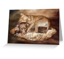 Pitbulls -  The Softer Side Greeting Card