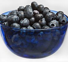 Blue Berries, Blue Bowl by Jay Gross