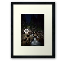 Ball of light in a creek Framed Print