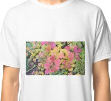 Autumn leaves of pink and chartreuse Classic T-Shirt