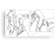 Toweling Off Canvas Print