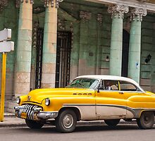 Yellow classic American car. by brians101