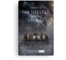 Game of Thrones Season 3 Poster Canvas Print