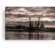 HDR Container Ship Canvas Print