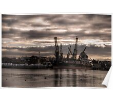 HDR Container Ship Poster