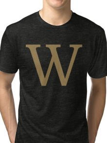 Weasley Sweater - W (All letters available!) Tri-blend T-Shirt
