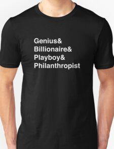 Genius Billioniare Playboy Philanthropist Jetset (White) T-Shirt