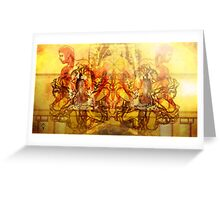 Wheels of Fate Greeting Card