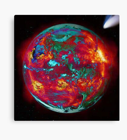 Fire Planet Canvas Print