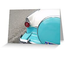 Ford trunk, American classic. Greeting Card