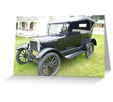 Vintage Ford car. Greeting Card