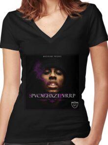 spaceghostpurrp Women's Fitted V-Neck T-Shirt