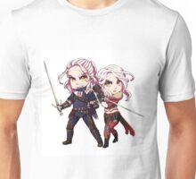 Chibi Geralt and Cirilla Unisex T-Shirt