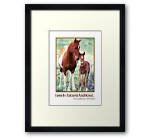 Wild Mare and Foal Framed Print
