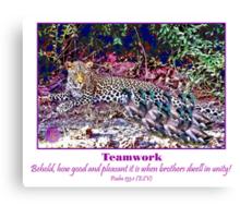 Mallards VS Leopard Canvas Print