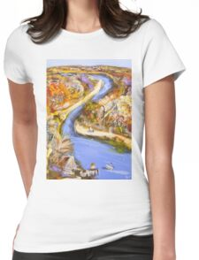 Private jetty Womens Fitted T-Shirt