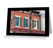 Main Street Electric Power Transmission - Port Jefferson, New York  Greeting Card