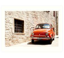Fiat 500, iconic Italian car from 1960's Art Print