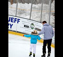 Father And Daughter Ice Skating At Village Center - Port Jefferson, New York by © Sophie W. Smith