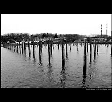 Deserted Harbor In Winter - Port Jefferson, New York by © Sophie W. Smith