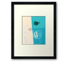 Take a blue breath Framed Print