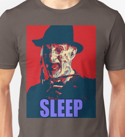 "Freddy Krueger ""SLEEP"" A Nightmare On Elm Street Parody  Unisex T-Shirt"