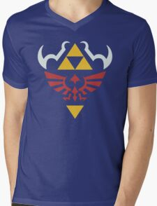 Zelda Hylian Shield (Ocarina of Time) Shirt Mens V-Neck T-Shirt
