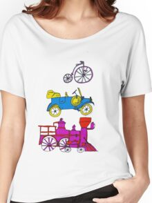 Vintage Transportation Tee Shirt Women's Relaxed Fit T-Shirt
