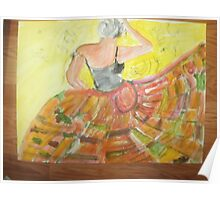 another oreilly original painting half pint DANCing the salsa all alone Poster