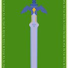 Zelda Master Sword Poster by Ayax Alarcon