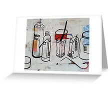 Up-cycled Still Life Greeting Card