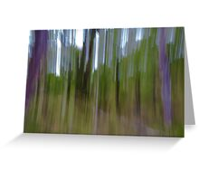 Vertical stripes, blurry. Greeting Card