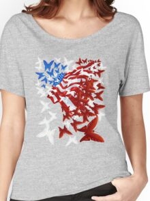 The Butterfly Flag Women's Relaxed Fit T-Shirt