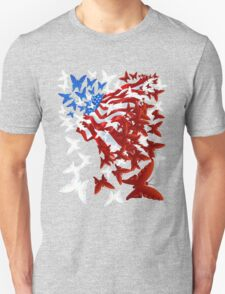 The Butterfly Flag Unisex T-Shirt