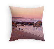 St Andrews Beach at dusk Throw Pillow