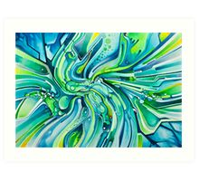 Dynamic Ever-Present Pull - Watercolor Painting Art Print