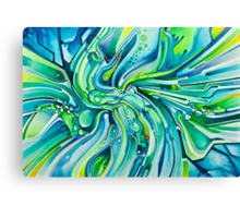Dynamic Ever-Present Pull - Watercolor Painting Canvas Print