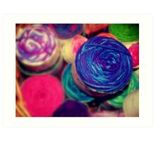 Bright Balls of Wool Art Print