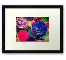 Bright Balls of Wool Framed Print