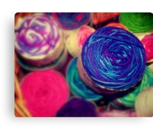 Bright Balls of Wool Canvas Print