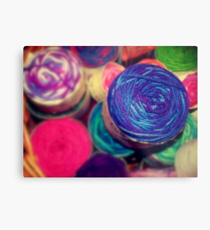 Bright Balls of Wool Metal Print