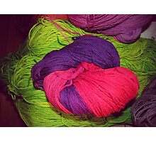 Bright Ball of Wool Knot Photographic Print