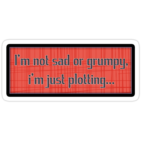 i'm not sad or grumpy - sticker by vampvamp