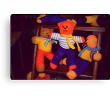 Knitted Teddy Bears Canvas Print