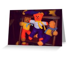 Knitted Teddy Bears Greeting Card