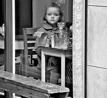 Little girl in the window. by David-Nendel