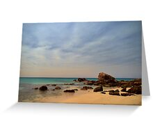 """Water Colour"", Cape Naturaliste, Western Australia Greeting Card"