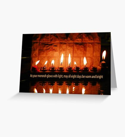 A Hanukkah Greeting Greeting Card