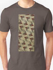 shark fin gold fish pattern Unisex T-Shirt