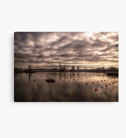 HDR Wearmouth Riverscape Canvas Print
